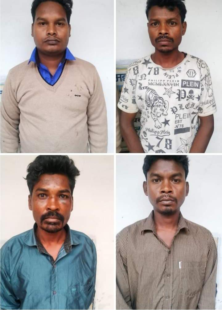 मझौली पुलिस को मिली कामयाबी। 24 घंटे के अंदर हत्या के आरोपियों को घने जंगल से  गिरफ्तार कर भेजा जेल।