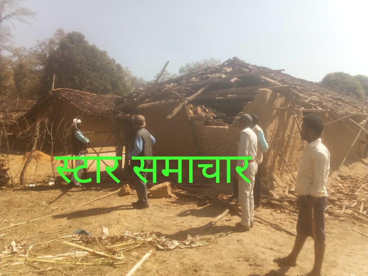 दूसरे दिन भी जारी रहा हाथियों का ताण्डव कोटा में एक घर को बनाया निशाना